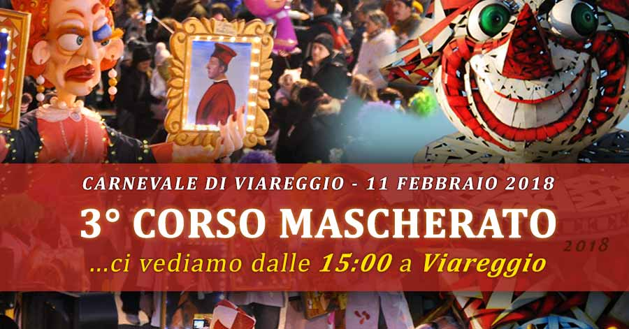 Foto EVENTO: 3° corso mascherato - carnevale viareggio - domenica 11 febbraio