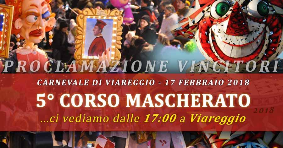 Foto EVENTO: 5° corso mascherato - Carnevale viareggio - Sabato 17 febbraio