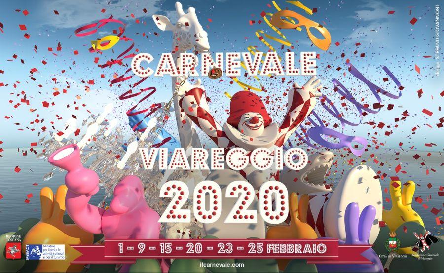 Masked courses carnival of viareggio 2020