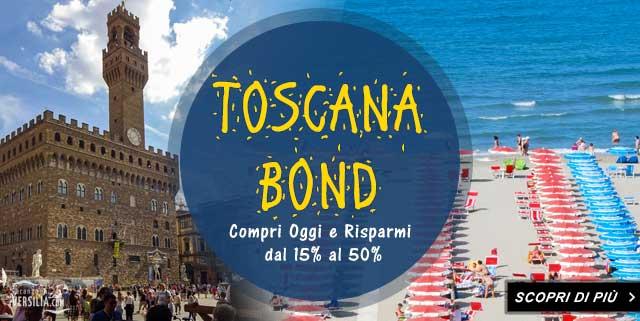 I toscana bond ti permettono di ottenere uno sconto eccezionale per la tua vacanza in Toscana